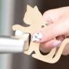 猫モチーフ銅製マルチタッチツール ドアオープナー